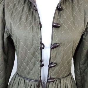 57bc97291e1 Yves Saint Laurent Jackets & Coats - YSL quilted cotton coat with leather  trim vintage